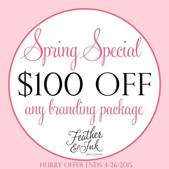 $100 OFF Branding Packages!